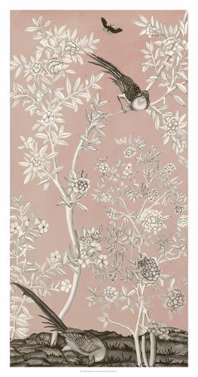 Blush Chinoiserie II-Naomi McCavitt-Giclee Print