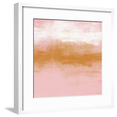 Blush Horizon-Linda Woods-Framed Art Print