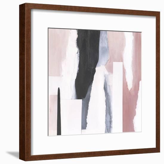 Blush & Onyx I-Victoria Borges-Framed Art Print
