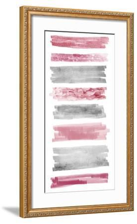 Blush Paint Streaks-Marcus Prime-Framed Art Print