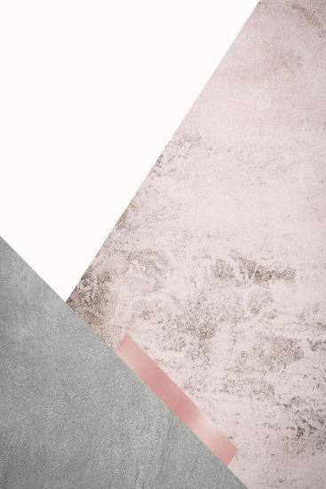 Blush Pink Mountains 3-Urban Epiphany-Art Print