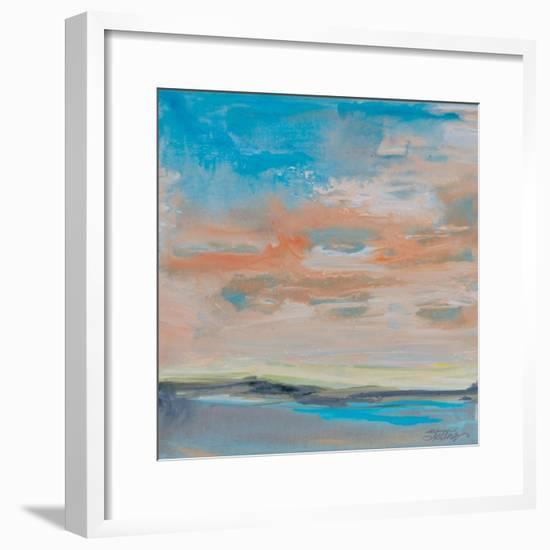 Blush Sky-Linda Stelling-Framed Art Print