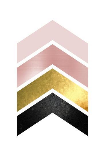 BlushPink Gold 1-Urban Epiphany-Art Print