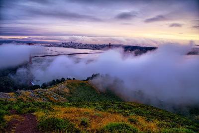 Blustery Foggy Golden Gate Bridge, San Francisco Cityscape-Vincent James-Photographic Print
