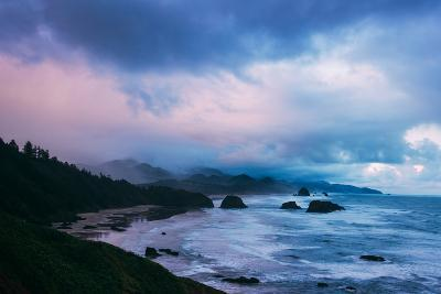 Blustery Morning Clouds at Cannon Beach, Oregon Coast-Vincent James-Photographic Print