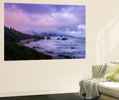 Blustery Morning Mood at Cannon Beach, Oregon Coast-Vincent James-Wall Mural