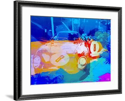 Bmw Before Race Watercolor-NaxArt-Framed Art Print
