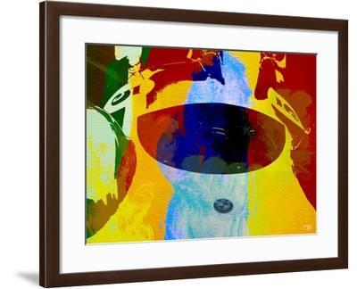 Bmw Open Cockpit Watercolor-NaxArt-Framed Art Print