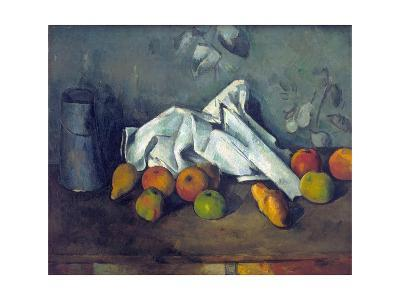 Bo?te ? Lait Et Pommes (Milk Can and Apples)-Paul C?zanne-Giclee Print