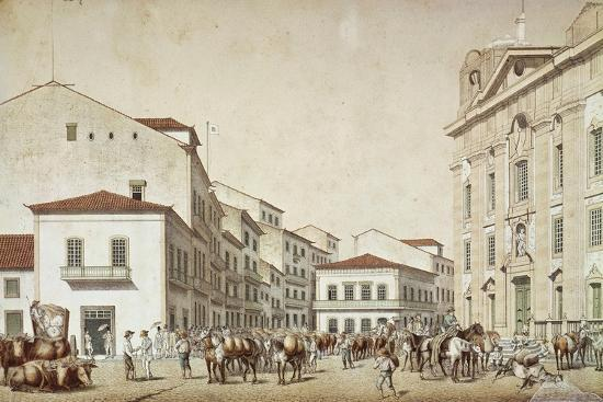 Boa Vista Square in Recife, from Souvenir of Pernabuco, by F. Kaus, 1850--Giclee Print