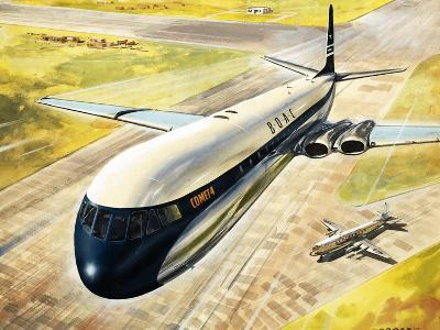 Boac's Comet 4 Passenger Aircraft-Roy Cross-Giclee Print