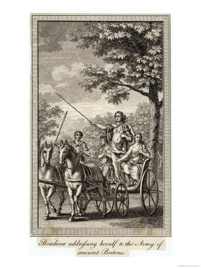 Boadicea (Aka Boudicca) Queen of the Iceni in Her Chariot--Giclee Print