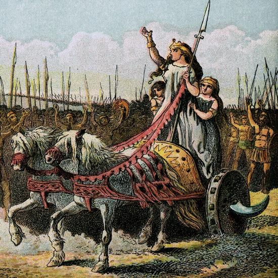 Boadicea and Her Army--Giclee Print