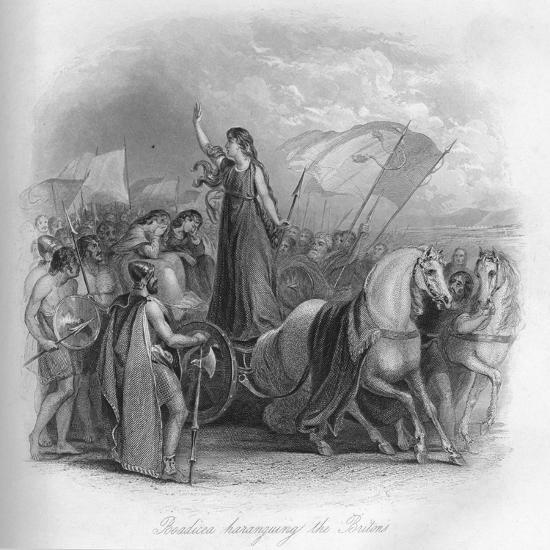 'Boadicea haranguing the Britons', 1859-Unknown-Giclee Print