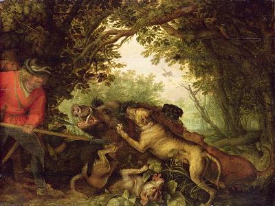 Boar Hunt, 1611-Roelandt Jacobsz^ Savery-Giclee Print