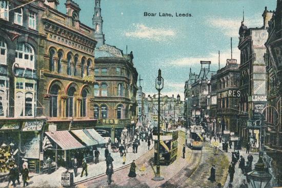 Boar Lane, Leeds, c1905-Unknown-Photographic Print