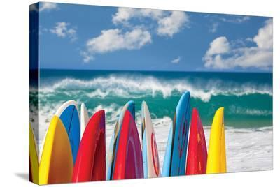 Board in Maui II--Stretched Canvas Print