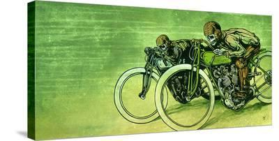 Board Track Racers-David Lozeau-Stretched Canvas Print
