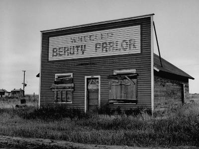Boarded Up Beauty Salon-Charles E^ Steinheimer-Photographic Print