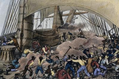 Boarding (Attack) on Triton Corsair, France, 19th Century--Giclee Print