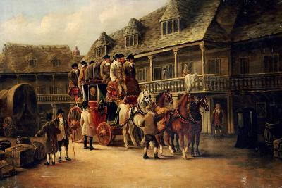 Boarding the Coach to London, 1879-J.C. Maggs-Giclee Print