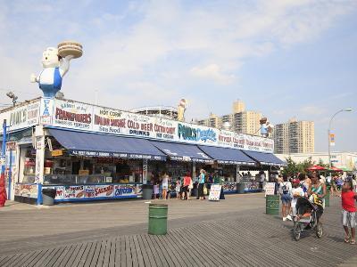 Boardwalk, Coney Island, Brooklyn, New York City, United States of America, North America-Wendy Connett-Photographic Print