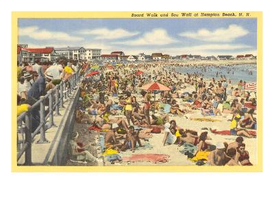 Boardwalk, Hampton Beach, New Hampshire--Art Print