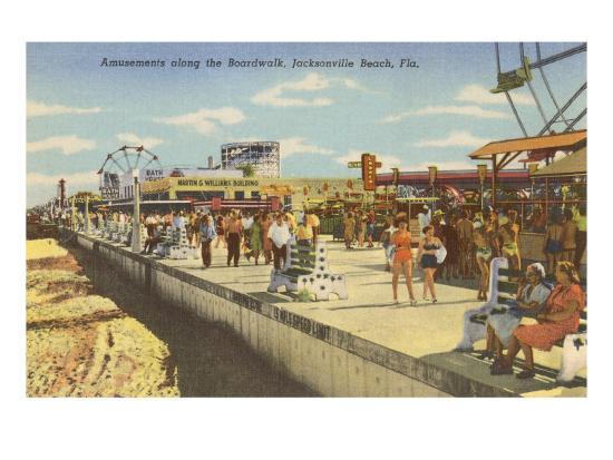 Boardwalk, Jacksonville, Florida--Art Print