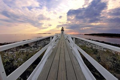 Boardwalk of Marshall Point Lighthouse-George Oze-Photographic Print