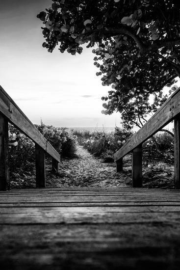 Boardwalk on the Beach at Sunset - Florida-Philippe Hugonnard-Photographic Print