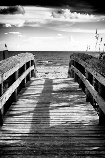 Boardwalk on the Beach at Sunset-Philippe Hugonnard-Photographic Print