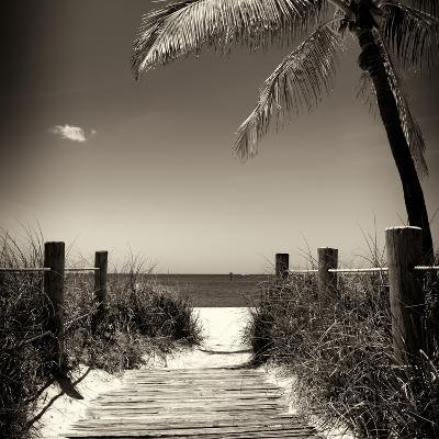 Boardwalk on the Beach - Florida-Philippe Hugonnard-Photographic Print