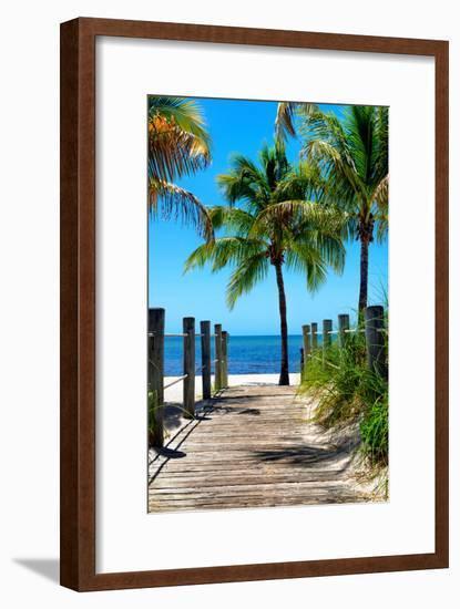 Boardwalk on the Beach - Key West - Florida-Philippe Hugonnard-Framed Photographic Print