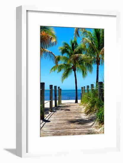 Boardwalk on the Beach - Key West - Florida-Philippe Hugonnard-Framed Photographic Print