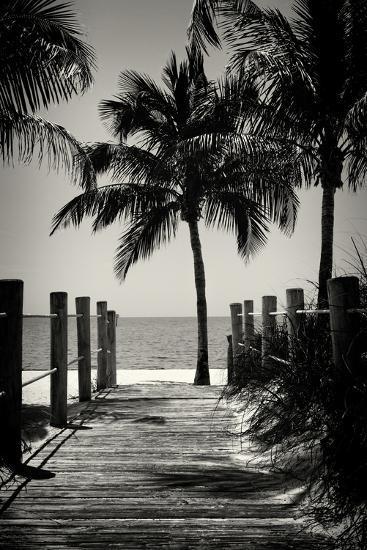 Boardwalk on the Beach - Key West - Florida-Philippe Hugonnard-Photographic Print