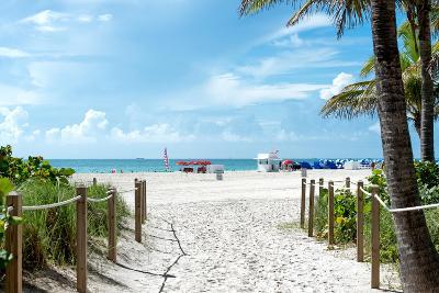 Boardwalk on the Beach - Miami Beach - Florida-Philippe Hugonnard-Photographic Print