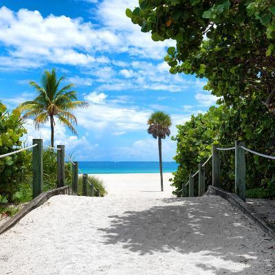 Boardwalk on the Beach - Miami - Florida - United States-Philippe Hugonnard-Photographic Print