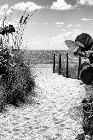 Boardwalk on the Beach - Miami - Florida-Philippe Hugonnard-Photographic Print