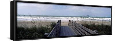 Boardwalk on the Beach, Nokomis, Sarasota County, Florida, USA--Framed Canvas Print
