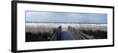 Boardwalk on the Beach, Nokomis, Sarasota County, Florida, USA--Framed Photographic Print