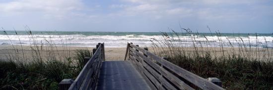Boardwalk on the Beach, Nokomis, Sarasota County, Florida, USA--Photographic Print