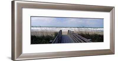 Boardwalk on the Beach, Nokomis, Sarasota County, Florida, USA--Framed Photographic Print