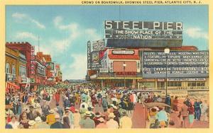 Boardwalk, Steel Pier, Atlantic City, New Jersey