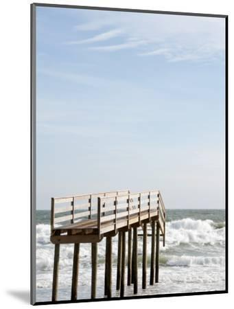 Boardwalk Which Used to Cross over a Sand Dune Which No Longer Exists Due to Hurricane Ida-Peter Ptschelinzew-Mounted Photographic Print