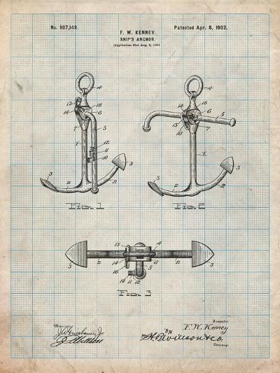 Boat Anchor Patent-Cole Borders-Art Print