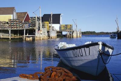 Boat and Fishermen's Wharf in Nova Scotia-Paul Souders-Photographic Print