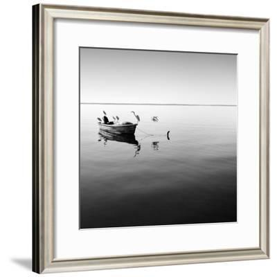 Boat and Heron II-Moises Levy-Framed Photographic Print