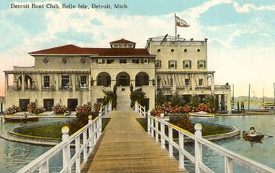 Boat Club, Belle Isle, Detroit, Michigan