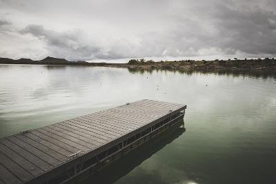 Boat Dock At Millsite Reservoir, Millsite State Park, Utah-Louis Arevalo-Photographic Print