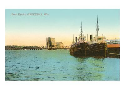 Boat Docks, Green Bay, Wisconsin--Art Print